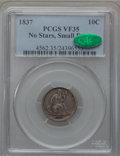 Seated Dimes: , 1837 10C No Stars, Small Date VF35 PCGS. CAC. PCGS Population(3/92). Numismedia Wsl. Price for problem...