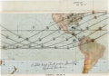 Explorers:Space Exploration, Gemini 11 Flown Orbital Track Display Chart Originally from the Personal Collection of Mission Pilot Richard Gordon, Signed an...