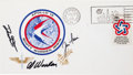 Explorers:Space Exploration, Apollo 15 Crew-Signed Launch Cover....