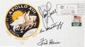 "Explorers:Space Exploration, Apollo 13 Crew-Signed ""Type Two"" Insurance Cover. ..."