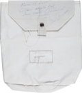 Explorers:Space Exploration, Apollo 17 Lunar Module Flown Beta Cloth Transfer Bag Originally from the Personal Collection of Mission Commander Gene Cernan,...