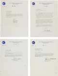 Autographs:Celebrities, NASA Astronauts: Eight Signed Letters with Philatelic Content....(Total: 8 Items)