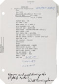 Explorers:Space Exploration, Apollo 7 Flown LMP Flight Checklist Page Originally from thePersonal Collection of Mission Lunar Module Pilot Wal...