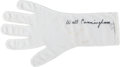 Explorers:Space Exploration, Apollo 7 Flown A7L Spacesuit Glove Liner Originally from thePersonal Collection of Mission Lunar Module Pilot WaltCunningham...