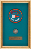 Explorers:Space Exploration, Gemini 3 (Molly Brown) Flown Silver Fliteline Medallion in Framed Display with Souvenir Insignia Patch. ...