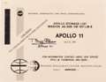 Explorers:Space Exploration, Buzz Aldrin Signed Apollo 11 Reprint NASA Stowage List Book....