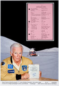 Explorers:Space Exploration, Apollo 17 Lunar Module Flown LM Lunar Surface Checklist Book Page Originally from the Personal Collection of Missi...