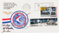 """Explorers:Space Exploration, Apollo 15 Lunar Module Flown """"Sieger"""" Crew-Signed Cover, with Signed and Notarized Certification...."""