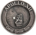 Explorers:Space Exploration, Apollo 12 Flown Silver Robbins Medallion Pin with DiamondOriginally from the Personal Collection of Mission Lunar ModulePilo...