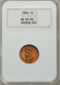 Indian Cents, 1894 1C MS65 Red NGC....