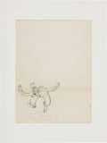 Animation Art:Production Drawing, Goofy Production Drawing Animation Art (Disney, undated)....