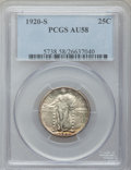 Standing Liberty Quarters: , 1920-S 25C AU58 PCGS. PCGS Population (103/349). NGC Census:(64/287). Mintage: 6,380,000. Numismedia Wsl. Price for proble...