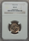 Buffalo Nickels: , 1926-D 5C MS63 NGC. NGC Census: (189/172). PCGS Population(417/315). Mintage: 5,638,000. Numismedia Wsl. Price for problem...