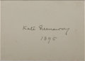 Autographs:Artists, Kate Greenaway, Children's Book Illustrator. Signature on SmallCard. Very good....