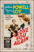 "Movie Posters:Comedy, I Love You Again (MGM, 1940). One Sheet (27"" X 41"") Style C. Comedy.. ..."