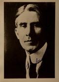 Autographs:Authors, Zane Grey, American Author of Western Novels. Signed Photograph. 6.5 x 8.5 inches. Very good....