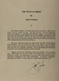 Autographs:Authors, John Grisham, American Writer. Typed Excerpt Signed. Fine....