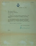 Autographs:Authors, Steward Edward White, American Writer. Typed Letter Signed. Verygood....