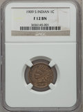 Indian Cents: , 1909-S 1C Fine 12 NGC. NGC Census: (141/1610). PCGS Population(281/2641). Mintage: 309,000. Numismedia Wsl. Price for prob...