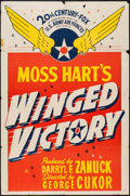 "Movie Posters:War, Winged Victory (20th Century Fox, 1944). One Sheet (27"" X 41"")Style B, and Lobby Cards (4) (11"" X 14""). War.. ... (Total: 5Items)"