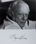 Autographs:Authors, Leon Uris, American Author. Signed Photograph. 8 x 10 inches. Verygood....