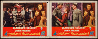 """Without Reservations (RKO, 1946 & R-1953). Lobby Cards (9) (11"""" X 14""""). Comedy. ... (Total: 9 Items)"""