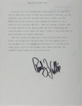 Autographs:Celebrities, Rudy Vallée, American Singer and Bandleader. Typed Letter Signed.Very good....