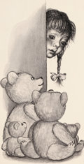 Mainstream Illustration, GARTH WILLIAMS (American, 1912-1996). The Tall Book ofMake-Believe, Susan's Bears, set of two: page 26, 27 and 31illustr... (Total: 2 Items)