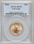 Modern Bullion Coins, 2002 G$10 Quarter-Ounce Gold Eagle MS70 PCGS....