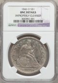 Seated Dollars, 1846-O $1 -- Improperly Cleaned -- NGC Details. Unc....