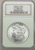 Morgan Dollars: , 1889-S $1 MS64 NGC. NGC Census: (1274/281). PCGS Population(2105/641). Mintage: 700,000. Numismedia Wsl. Price for problem...