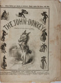 Books:Americana & American History, [Satirical Journal]. The John-Donkey. Vol. I. No. XVIII.George Dexter, et al., 1848. First edition, first print...