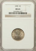 Liberty Nickels: , 1898 5C MS65 NGC. NGC Census: (83/19). PCGS Population (85/24).Mintage: 12,532,087. Numismedia Wsl. Price for problem free...
