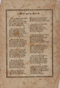 Books:Prints & Leaves, [German Broadside]. Morgen=Lied. [n. p., n. d.]. Text of a religious mourning song. Approx. 10.25 x 7 inches. Overal...