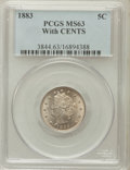 Liberty Nickels: , 1883 5C With Cents MS63 PCGS. PCGS Population (265/536). NGCCensus: (149/495). Mintage: 16,032,983. Numismedia Wsl. Price ...