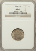 Liberty Nickels: , 1896 5C MS62 NGC. NGC Census: (39/217). PCGS Population (43/281).Mintage: 8,842,920. Numismedia Wsl. Price for problem fre...