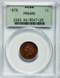 Proof Indian Cents: , 1878 1C PR64 Red PCGS. PCGS Population (60/45). NGC Census:(19/25). Mintage: 2,350. Numismedia Wsl. Price for problem free...
