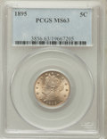 Liberty Nickels: , 1895 5C MS63 PCGS. PCGS Population (102/195). NGC Census: (83/179).Mintage: 9,979,884. Numismedia Wsl. Price for problem f...