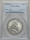 Commemorative Silver: , 1918 50C Lincoln MS66 PCGS. PCGS Population (498/91). NGC Census:(280/70). Mintage: 100,058. ...