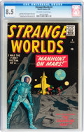 Golden Age (1938-1955):Science Fiction, Strange Worlds #4 (Marvel, 1959) CGC VF+ 8.5 Off-white to whitepages....