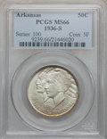 Commemorative Silver: , 1936-S 50C Arkansas MS66 PCGS. PCGS Population (128/11). NGCCensus: (70/8). Mintage: 9,662. Numismedia Wsl. Price for prob...