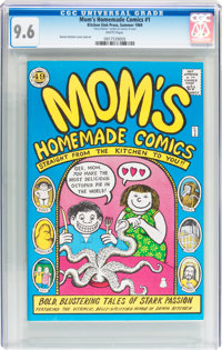 Mom's Homemade Comics #1 Signed (Kitchen Sink, 1969) CGC NM+ 9.6 White pages