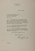 Autographs:Authors, James Irving Crump, American Writer. Typed Letter Signed. Very good....