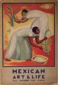 Books:Art & Architecture, Jose Juan Tablada [editor]. Mexican Art & Life. Issue No. 4. Dapp, 1938. Publisher's wrappers with toning and we...
