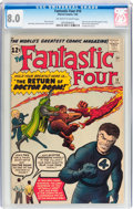 Silver Age (1956-1969):Superhero, Fantastic Four #10 (Marvel, 1963) CGC VF 8.0 Off-white to white pages....