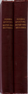 Books:Sporting Books, [Horse-Racing]. Fore's Sporting Notes and Sketches. Two Volumes. Strangeways & Sons, [n. d.]. 238; 304 pages wit... (Total: 2 Items)