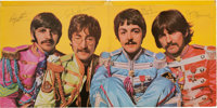 Beatles Signed Sgt. Pepper's Lonely Hearts Club Band Mono UK Gatefold Cover (Parlophone PMC
