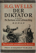 Books:Literature 1900-up, H. G. Wells. Der Diktator. Zsolnay, 1931. First Germanedition, first printing. Faint rubbing to cloth with small st...
