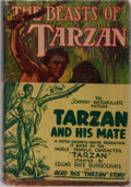 Books:Science Fiction & Fantasy, Edgar Rice Burroughs. The Beasts of Tarzan. Grosset & Dunlap, ca. 1934. Reprint edition. Light rubbing to cloth with...