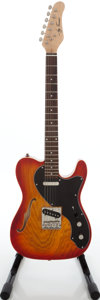 Musical Instruments:Electric Guitars, 2000s Jay Turser JT-LTCRUSDLX Cherry Sunburst Semi-Hollow BodyElectric Guitar.. ...